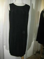 VIKKI VI BLACK TRAVEL KNIT SCOOP NECK SLVLS DRESS, SZ M, 25% OFF