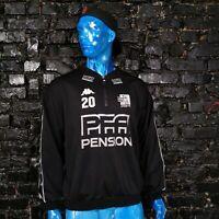 Lyngby Boldklub Denmark Training Jacket With Zipped Kappa With Strips Mens SZ XL