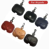 For Airpods Pro Leather Case Cover Earphone Protector Storage Bag Charging Box
