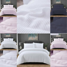 100% Brushed Cotton Duvet Cover Bedding Set Quilt Covers Single Double King Size