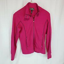 Ralph Lauren L-RL Active Women's Pink Full Zip Sweatshirt Track Jacket Size L