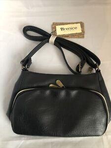Brenice Women Solid Multi-Pockets Fashion Handbag Casual Leather Crossbody Bag