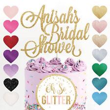 Custom Cake Topper Bridal Shower Glitter Customised Name Bride Wedding Hen party