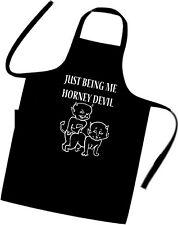 HORNEY DEVILS / FUNNY / Chefs / Cooks / Apron / BBQ / Birthday / Xmas / RUDE SEX