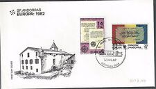 1982 Andorra Spanish Side FDC Europa Issue
