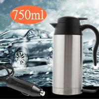 12V 750ml Stainless Steel Travel Electric In Car Van Water Kettle Boiler