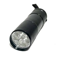 Metal UV Ultra Violet Blacklight 9 LED Mini Flashlight Light Thrifting