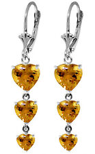 6 Carat 14K Solid Gold Excite My Imagination Citrine Earrings