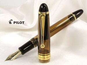 FKK-3MRP-BN PILOT CUSTOM 823 AMBRE AMBER MEDIUM 14K GOLD NIB SIZE NUM. 15 F-M-B
