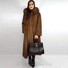 Saga Mink Coat Swinger PASTEL VISONE MAXI CAPPOTTO VISONE НОРКА 40 L cappuccio