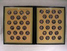 Colorized Presidential State Quarter Porfolio 43 Coins - Washington thru Obama