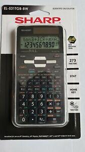 New Sharp EL-531TGB-BW  12 digit Scientific Calculator  Black & white Free S&H