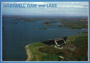 Hartwell Dam Lake, Anderson South Carolina Hartwell Georgia Power Plant Postcard