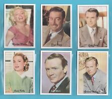 JF SPORTING COLLECTIBLES - SET OF XL 24 FAMOUS FILM STARS 1940/50s 1ST SERIES