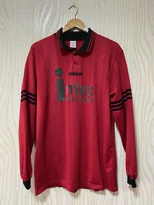 ADIDAS 90s FOOTBALL SHIRT SOCCER JERSEY LONG SLEEVE sz XL RED