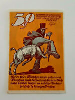 RIBNITZ REUTERGELD NOTGELD 50 PFENNIG 1922 NOTGELDSCHEIN (11791)