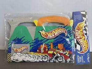 1995 Hot Wheels Party Meal Box Set of 4 Birthday Celebration Vintage 90's Mattel