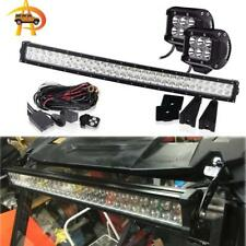 "30 32"" INCH Curved LED Light Bar Polaris RZR 900 1000 2700 RZR 800 Grill RZR4 XP"