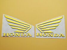 Motorcycles 3D Raise Tank Emblems Decals Sticker for Honda Wing Gold 90mm x 70mm