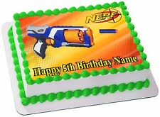 NERF GUNS  REAL EDIBLE ICING CAKE TOPPER PARTY IMAGE FROSTING SHEET