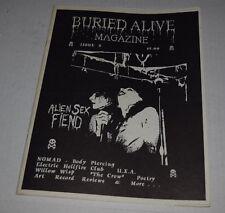 Buried Alive Magazine #2 1994 Alien Sex Fiend goth gothic electric hellfire club