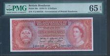 BRITISH HONDURAS $5 P30c 1st Jan 1973 PMG 65 EPQ Gem Unc