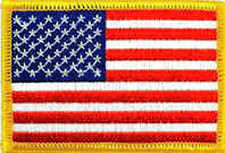 Iron On/ Sew On Embroidered Patch Badge Flag USA United States US American