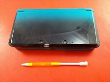 Aqua/Black Agua Blue Nintendo 3DS System Console [System Only w/ Stylet] Tested