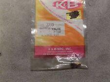K & B Needle Valve Collet Body & Lock Nut 7739