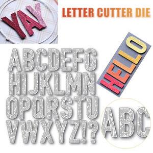 Stanzschablone/ Cutting dies Alphabet Buchstaben ABC verspielt für Big Shot DIY