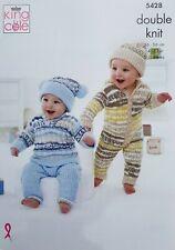 Tejer patrón Bebé Lacy Cardigans manta y sombrero Cherish DK King Cole 5238