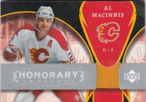 AL MacINNIS NO:HS-AM JERSEY HONORARY SWATCHES in UD TRILOGY 2007-08
