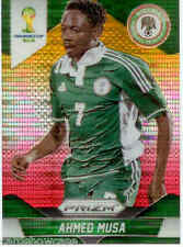 2014 World Cup Prizm Yellow Red Parallel No.154 A.MUSA (NIGERIA)