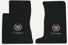 New Lloyd 2pc Front Floor Mats ebony with logos 2011-2014 Cadillac CTS AWD coupe