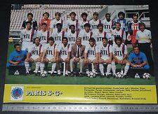 CLIPPING POSTER FOOTBALL 1985-1986 PARIS SAINT-GERMAIN PSG PARC DES PRINCES