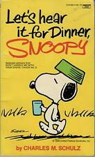 Peanuts.   Let's Hear It For Dinner, Snoopy.  Excellent Condition.1967 Paperback