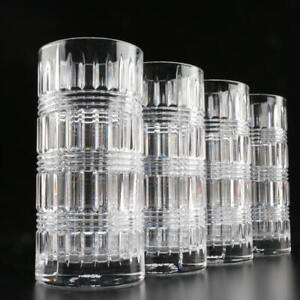 NEW RALPH LAUREN SET OF 4 ETTRICK CLEAR CRYSTAL HIGHBALL GLASS GERMANY-11.6 OZ