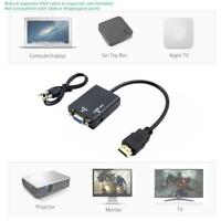HDMI-compatible to vga Converter 1080P HD Adapter W/ Audio Cable Laptop For HDTV
