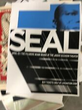 Seal Artist Limited Edition Event Poster 31/33 Signed And Numbered By Artist