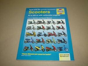 Haynes SCOOTER APRILIA DERBI GILERA Workshop Manual Owners Service Book Handbook