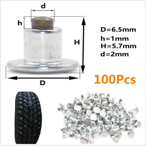 100Pcs Car Tires Studs For Holes Tire Screw Snow Spikes Wheel Snow Chains Studs