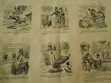 Caricature Vignettes Les Fromages en Patin à Roulettes pour aller plus vite 1877