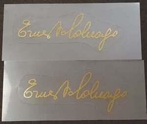 Colnago Mirror Gold Signature Decals - 1 Pair (sku Coln902)