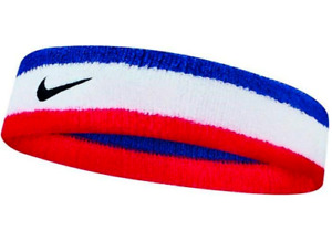 Nike SWOOSH HEADBAND BLUE/WHITE/RED Sports Unisex Sweatband