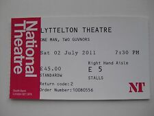 ONE MAN, TWO GUVNORS  LONDON  02/01/2011  TICKET