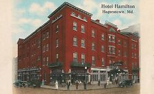 Hotel Hamilton in Hagerstown MD Postcard