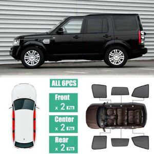 Side Windows Magnetic Sun Shade UV Ray Blocking Mesh For Land Rover Discovery 4