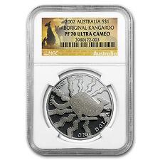 2002 Australia 1 oz Proof Silver Kangaroo PF-70 NGC - SKU #85460