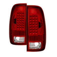 Ford 97-03 F150 99-07 F250/F350/F450/F550 SuperDuty Red Clear LED Tail Lights