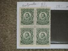 CANADA, NEWFOUNDLAND,SCOTT# 87, BLOCK OF 4, MNH